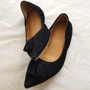 J.Crew Black Tassel Ballet Flats size 8